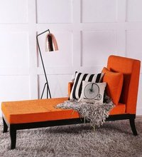 Handcrafted  Lounger in Tangerine Color by Wudstuk