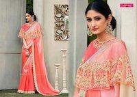 Red Shaded Designer Saree