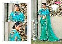 Georgette Designer Embroidery Saree