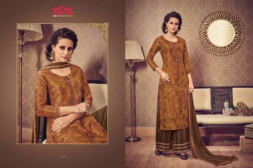 Pure Silk Printed Palazzo Salwar Suit