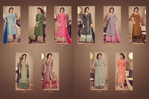 New Palazzo Salwar Suit Catalog 10110 To 10119 Series