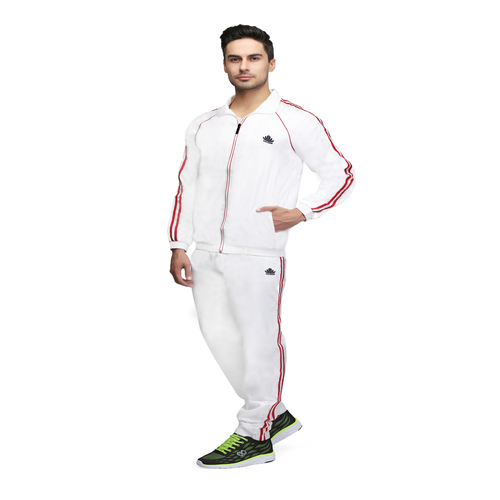 Mens white and red tracksuit