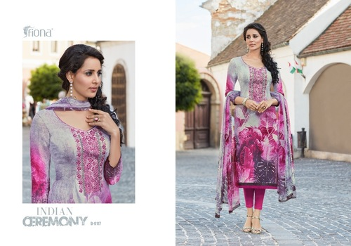 Digital Print With Embroidery Work Pashmina Suit