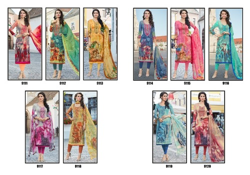 Fiona Lunching New Pashmina Suit Catalog D - 9111 To 9120 Series