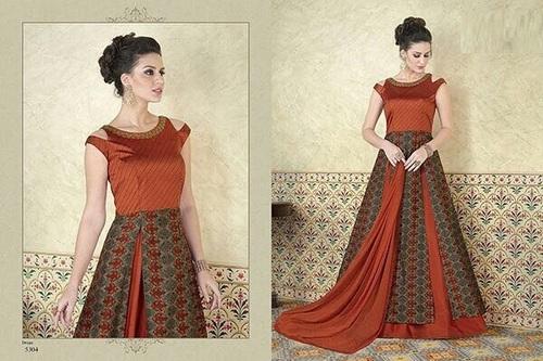 Tussar Silk Designer Anarkali Suit