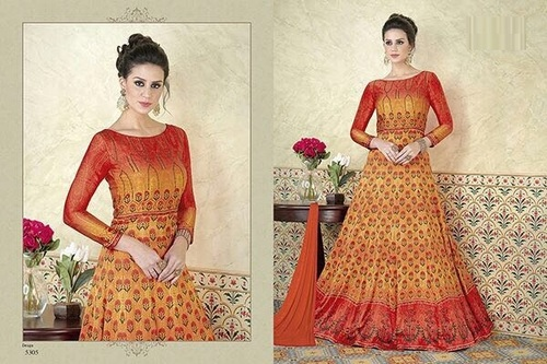 Digital Print Work Long Suit