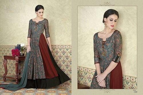 Stylish Pattern Printed Anarkali Suit
