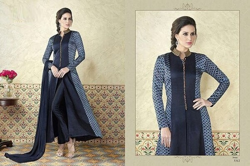 Gramatical Design Satin Salwar Kameez
