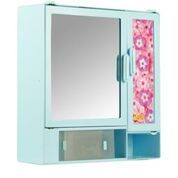 14414 Bathroom Cabinet Sliding Blue
