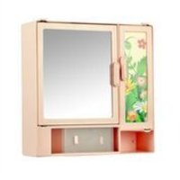 14414 Bathroom Cabinet Sliding Pink
