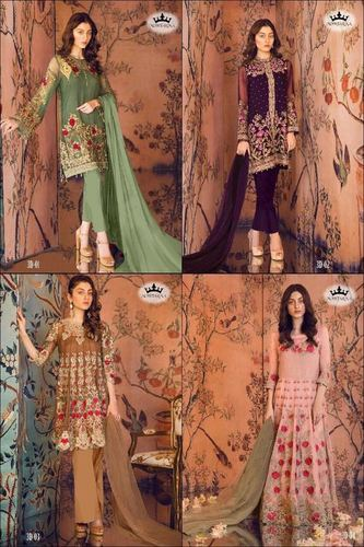 Mohtarma Farbic Lunching New Pakistani Salwar Suit, 01 To 04 Series