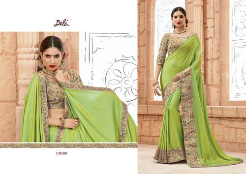 Border work Designer Party Wear saree