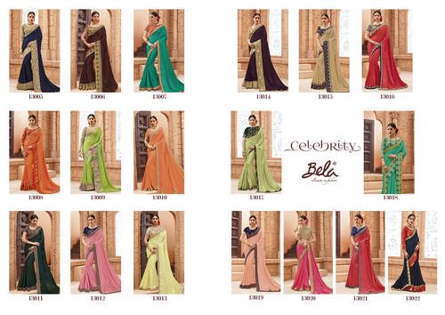 Bela Fashion Lunching New Designer Party Wear Saree, 13005 To 13022  Series