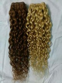 BLEACHED CURLY HAIR