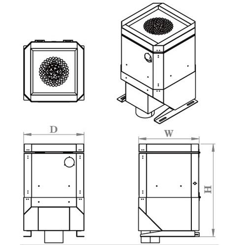 1HP CNC Mist Fume Smoke Collector