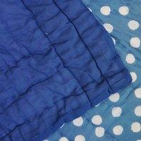 Polka Dot Printed Indigo Blue Jaipuri Quilt