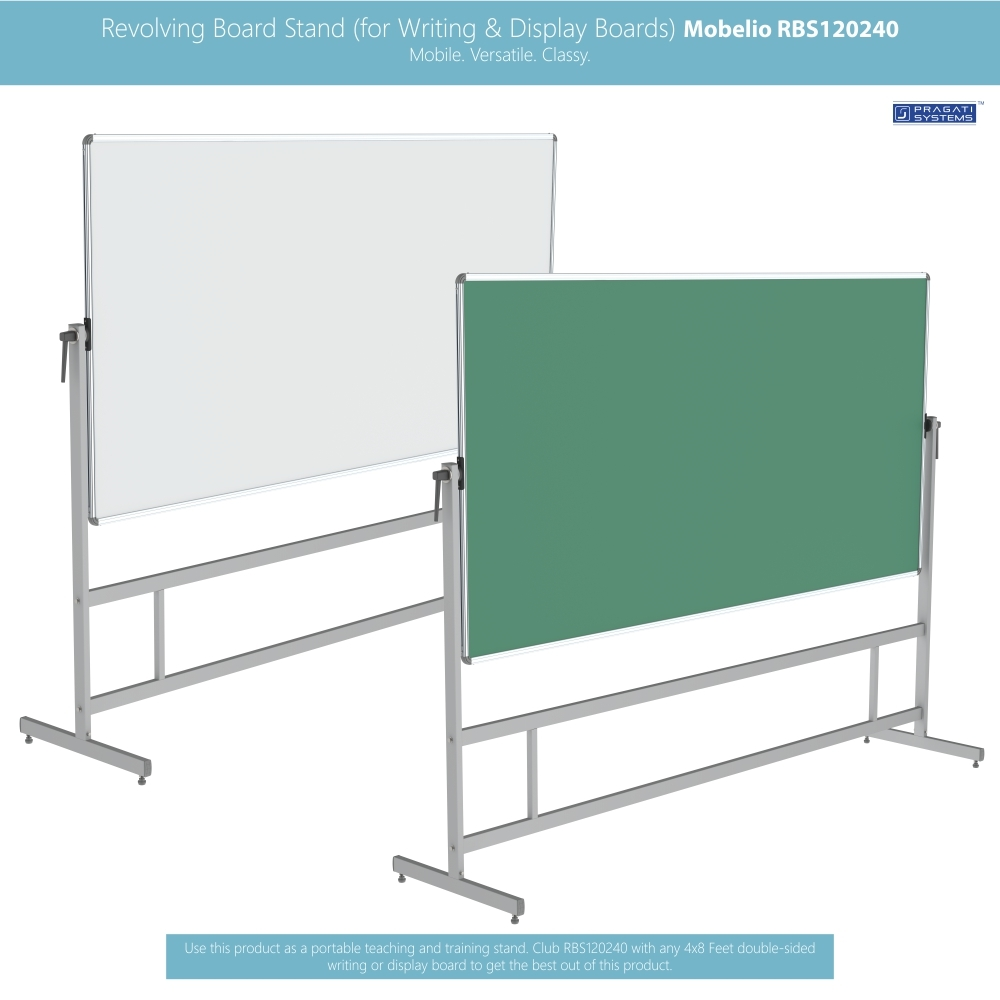 Revolving Whiteboard Stand Mobelio (for 4x8 Feet)