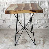 Solid Wood Top Cafe Table