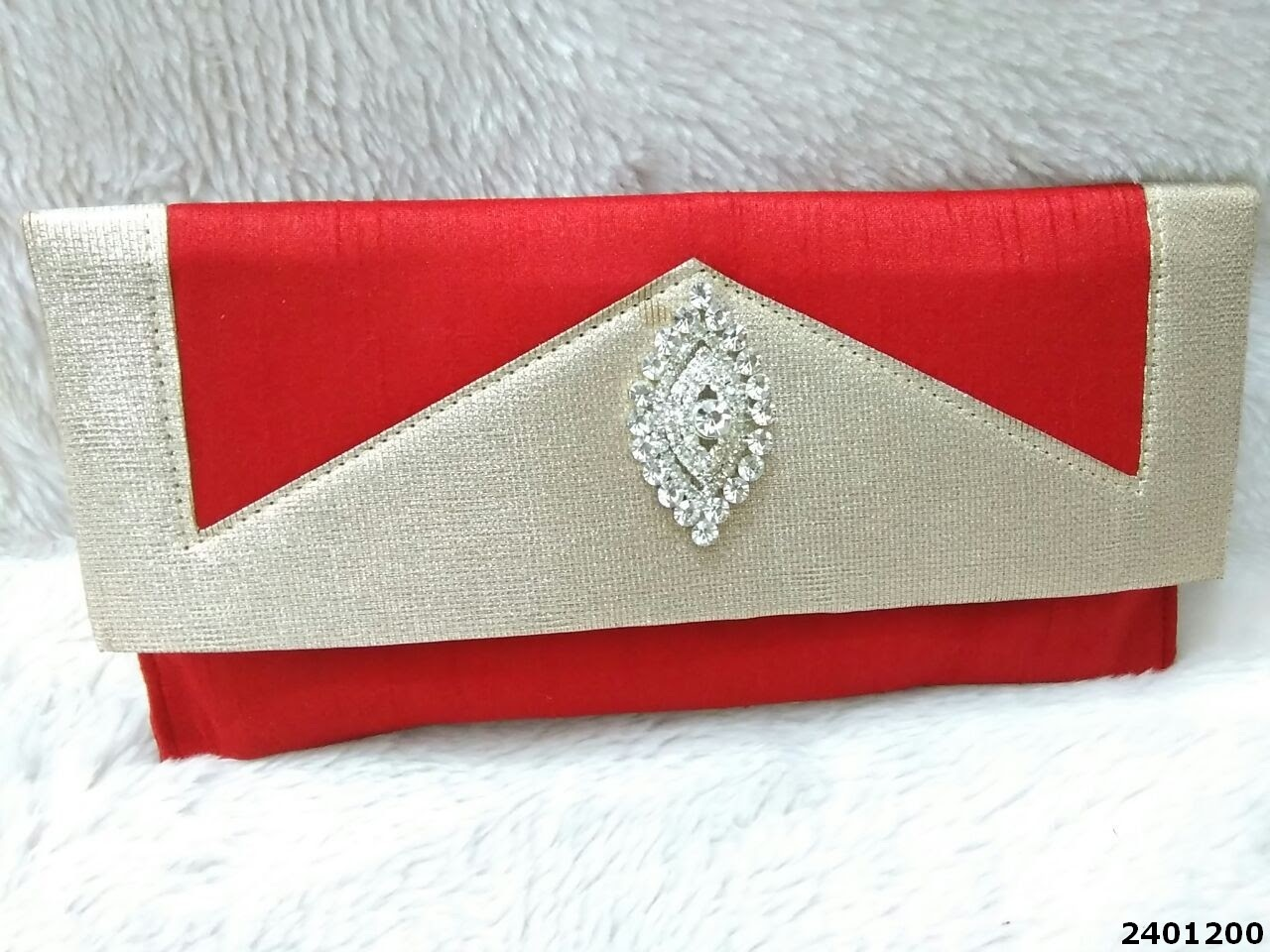 Designer Ethnic Raw Silk Clutch Bag