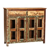 Vintage Reclaimed Barn wood Long Headboard Bed