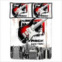 Guitar Print Bedsheet