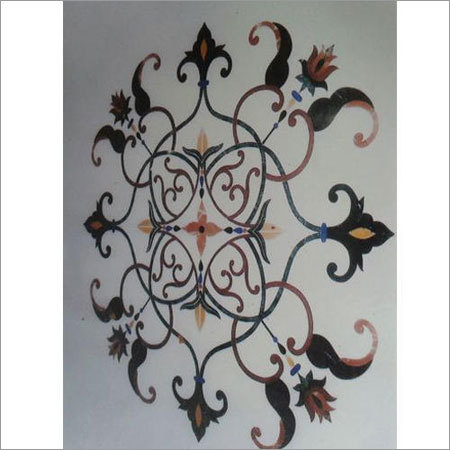 Decorative Marble Inlay Flooring