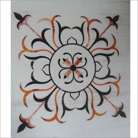 Marble Inlay Flooring Rangoli