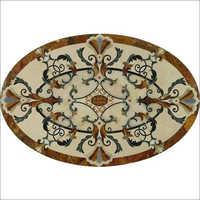 Oval Shape Inlay Flooring