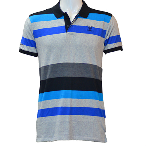 Striped Collar T-Shirt