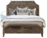 Vintage style reclaimed solid wood luxurious handcrafted bed