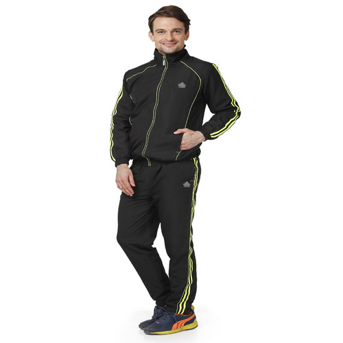 Mens black & green Tracksuit