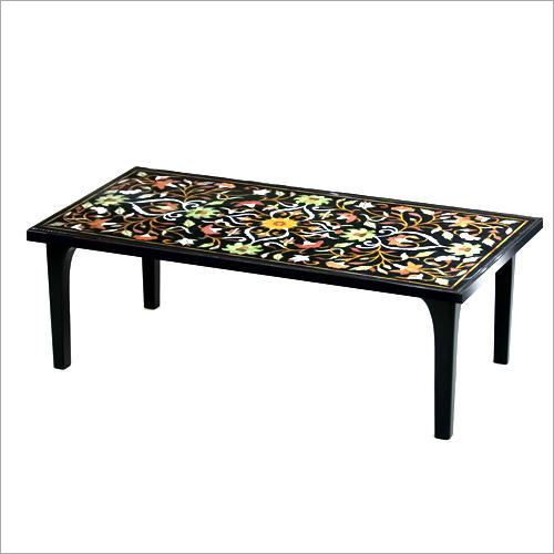 Rectangular Marble Inlay Table Top