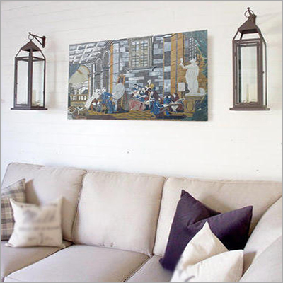 Marble Inlay Wall Panel