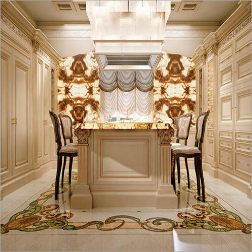 Modern Marble Inlay Flooring