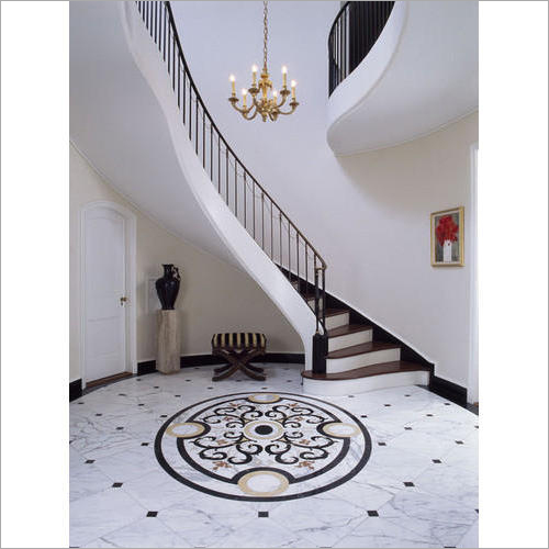 Marble Medallion Inlay Flooring