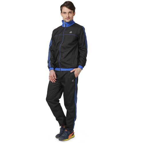 Mens black & blue tracksuit