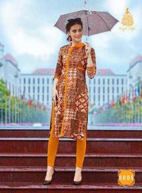 FANCY WESTERN WEAR LOAN COTTON FABRIC KURTI