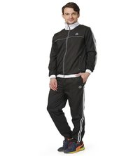 Mens black & white tracksuit