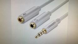 4 Pole Audio To Headphone And Mic Female