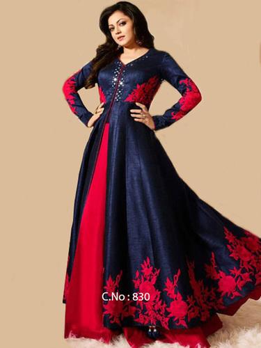 Silk Anarkali Salwar Kameez