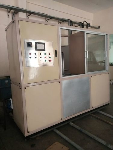 Machine for vertical induction hardening