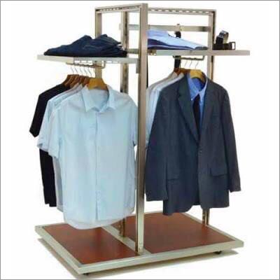 Garments Hanging Shelving Gondola