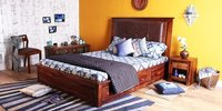 Handcrafted  King Bed with Storage