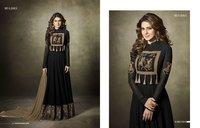 Black Georgette Anarkali Salwar Suit