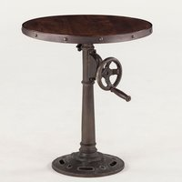 Vintage industrial adjustable height side table
