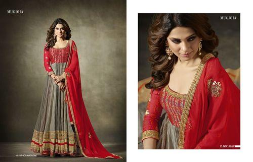 Banarasi Jacqured Silk Designer Anarkali Suit