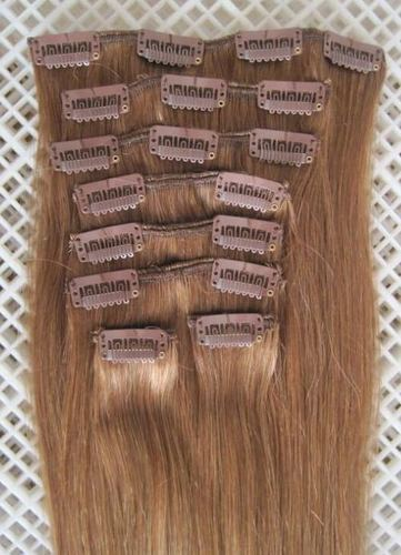 COLORED CLIP HAIR EXTENSION