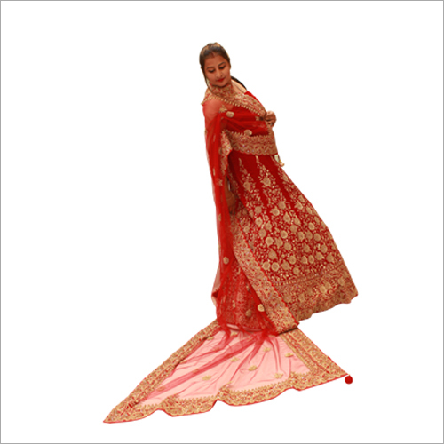 Embroidered Silk Bridal Lehenga