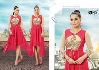 GEORGETTE FABRIC KURTI WITH EMBROIDARY WORK
