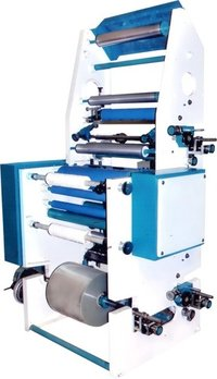 Slitting machine with online printing